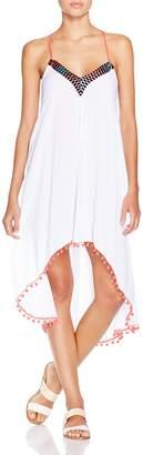 MinkPink Great White Embellished Dress Swim Cover-Up