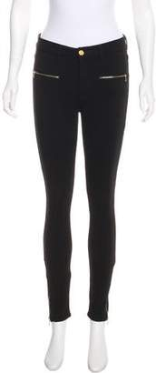 7 For All Mankind Zippered Skinny Pants