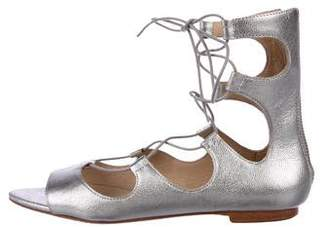 Loeffler Randall Metallic Leather Sandals