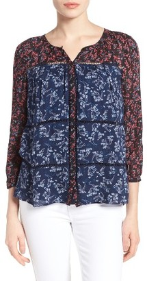 Women's Lucky Brand Mix Floral Print Top $99 thestylecure.com