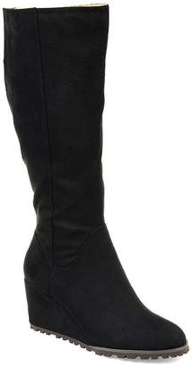 Journee Collection Womens Parker-Wc Wedge Heel Zip Dress Boots
