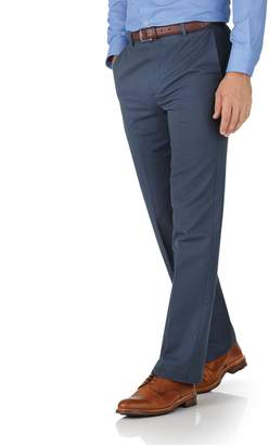 Charles Tyrwhitt Airforce Blue Classic Fit Flat Front Non-Iron Cotton Chino Pants Size W32 L30
