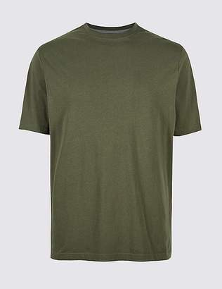 "Marks and Spencer Slim Fit Pure Cotton T-Shirt with Cool Comfortâ""¢"
