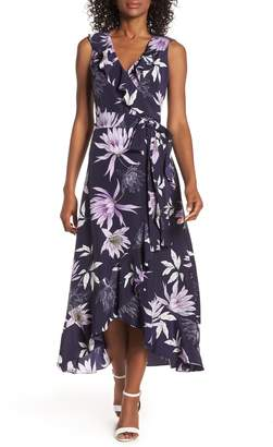 Vince Camuto Asymmetrical Faux Wrap Dress