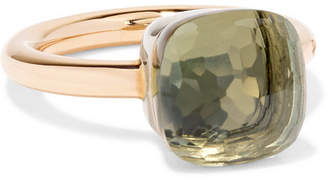 Pomellato Nudo Classic 18-karat Rose And White Gold Prasiolite Ring
