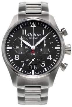 Alpina Startimer Stainless Steel Watch