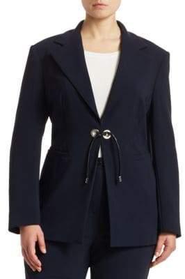 Marina Rinaldi Marina Rinaldi, Plus Size Carnet Front-Tie Blazer