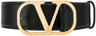 Valentino Buckle Belt in Black | FWRD