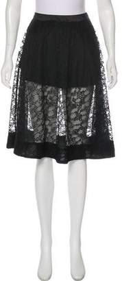 AllSaints Embroidered Knee-Length Skirt