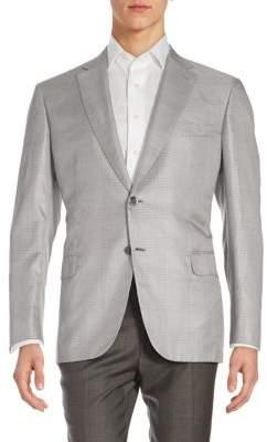 BrioniGlen Plaid Silk Jacket