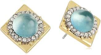 Alexis Bittar Crystal Encrusted Geometric Post Stud Earrings