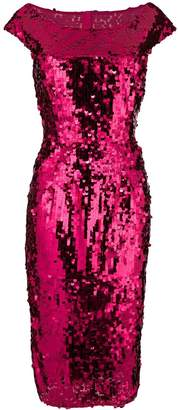 Dolce & Gabbana off-the-shoulder fitted sequin dress