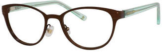 Kate Spade Two-Tone Logo Readers, Brown/Green