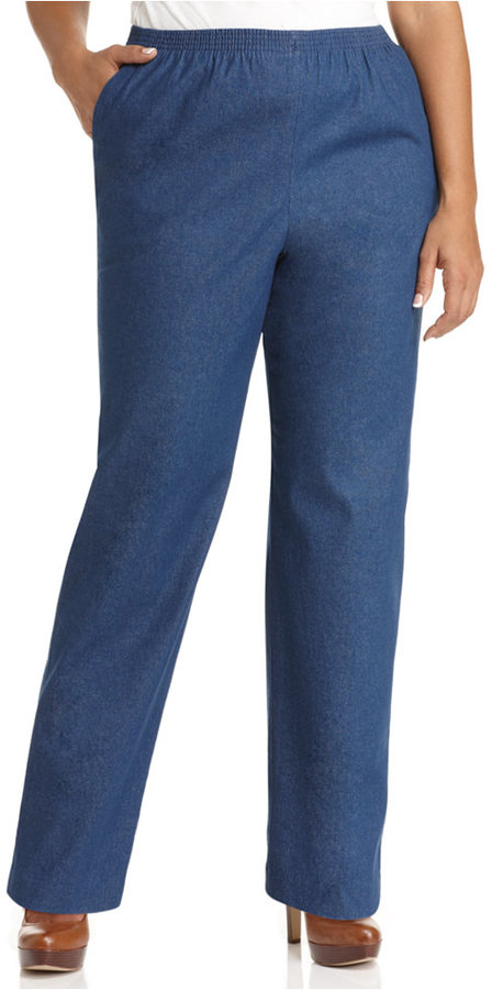 alfred dunner pull up pants