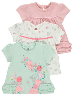George Mint Floral Tops 3 Pack