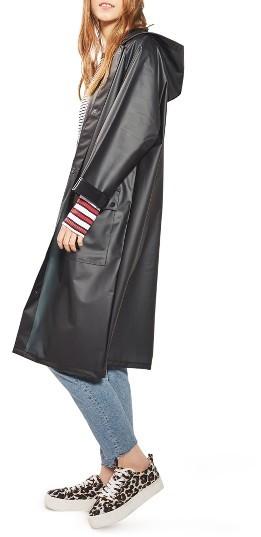 TopshopWomen's Topshop Frosted Longline Raincoat
