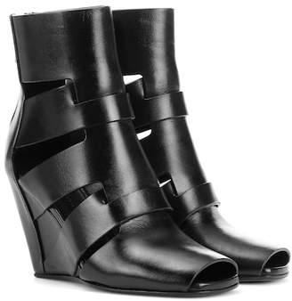Rick Owens Leather ankle boots