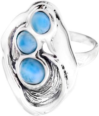 Hagit Sterling & Larimar Elongated Ring