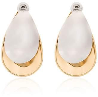 Charlotte Chesnais Gold and Silver Mini Petal Earrings
