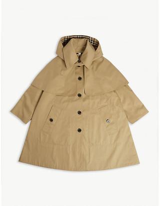 Burberry Detachable hood cotton trench coat 3-14 years