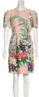 Gucci 2017 Jacquard Floral Dress