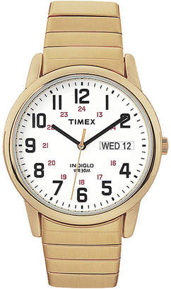 Timex Easy Reader Mens Gold-Tone Stainless Steel Expansion Strap Watch T204719J