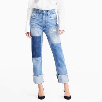 J.Crew Point sur relaxed shoreditch straight jean with patches