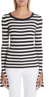 Michael Kors Split Sleeve Stripe Sweater