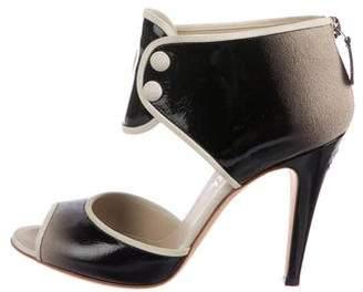 Chanel Patent Leather Ombré Sandals