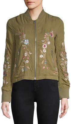 Driftwood Women's Zoe Embroidered Bomber Jacket