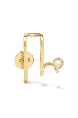 A.N.A Khouri - Amelie 18-karat Gold Diamond Earring - L