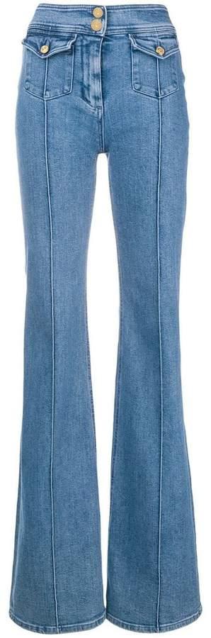 Balmain high-waist flared jeans