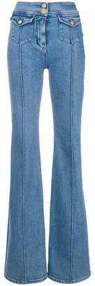 Balmain high-waist flared jeans