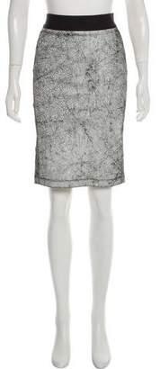 Helmut Lang Lamb Leather Knee-Length Skirt