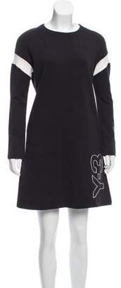 Y-3 Long Sleeve Knee-Length Dress