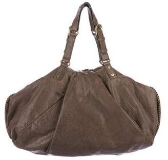 Diane von Furstenberg Distressed Leather Hobo