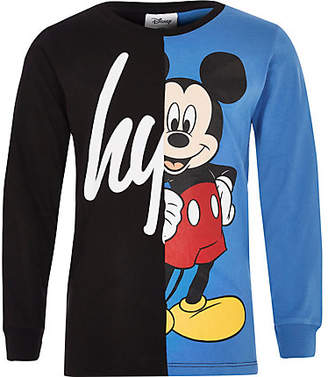 Hype Boys Disney Black spliced T-shirt