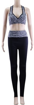 Acappella Womens High Waist Yoga Pants Tummy Control Workout Running 4 Way Stretch Yoga Leggings Grey - XL