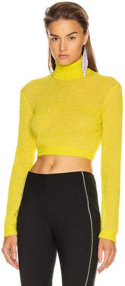 Area Turtleneck Crop Top in Yellow | FWRD