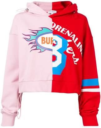 Mira Mikati split print hoodie