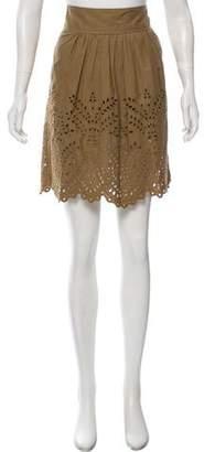 Etoile Isabel Marant Knee-Length Embroidered Skirt