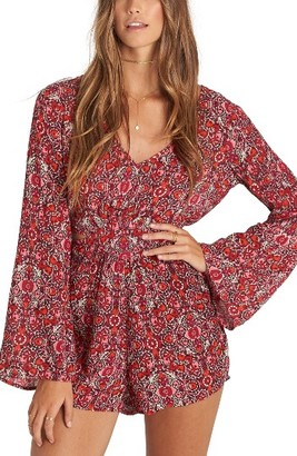 Women's Billabong Worlds Collide Print Romper $54.95 thestylecure.com
