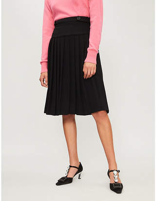 Claudie Pierlot Suzanne Pleated crepe skirt