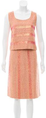 Chanel Striped Bouclé Skirt Set