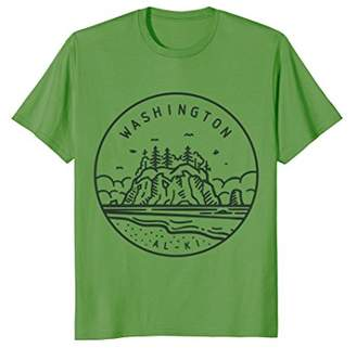 "T-shirt ""Washington"" with state motto ""Alki"""
