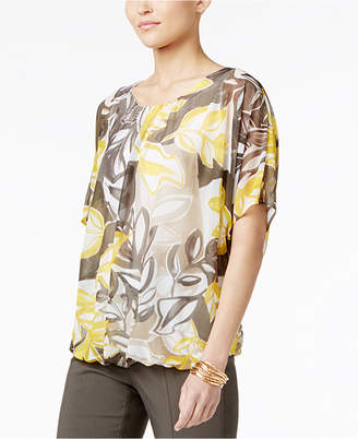 Alfani Printed Bubble-Hem Top, Created for Macy's $69.50 thestylecure.com