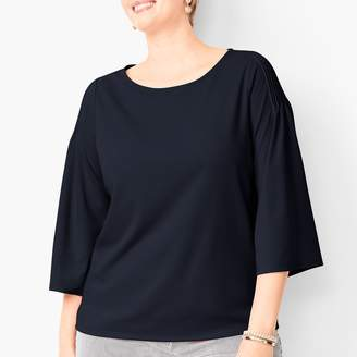 Talbots Pintuck Shoulder Top