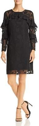 Nanette Lepore nanette Ruffle Trim Shift Dress
