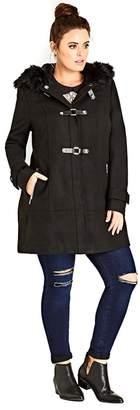 Evans City Chic Black Wonderland Coat