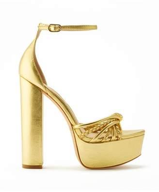 Rachel Zoe Kinsely Metallic Leather Platform Sandals